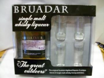 Bruadar Gift Set with 4 shot glasses.  Buy gifts online