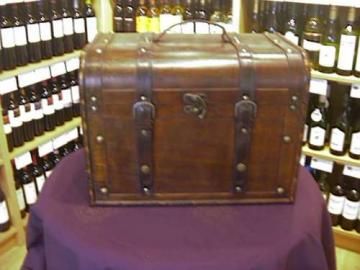 Large Oak Chest.  Buy Wine Online